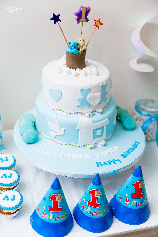 1st Baby Boy Birthday Cake