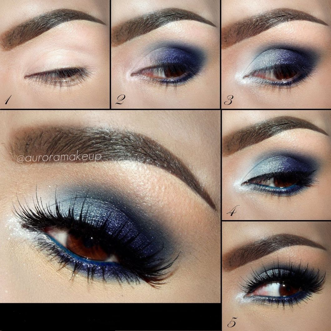 Blue smokey eye makeup for brown eyes decorativestyle eyeshadow for brown eyes blue smokey eye makeup tutorials baditri Gallery