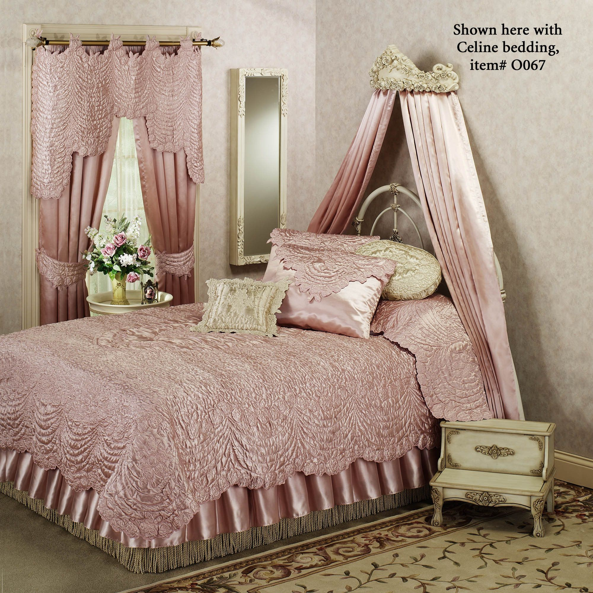 Victoria Rose Antique Ivory Wall Teester Bed Crown | Bed ... on Wall Teester Bed Crown  id=33397