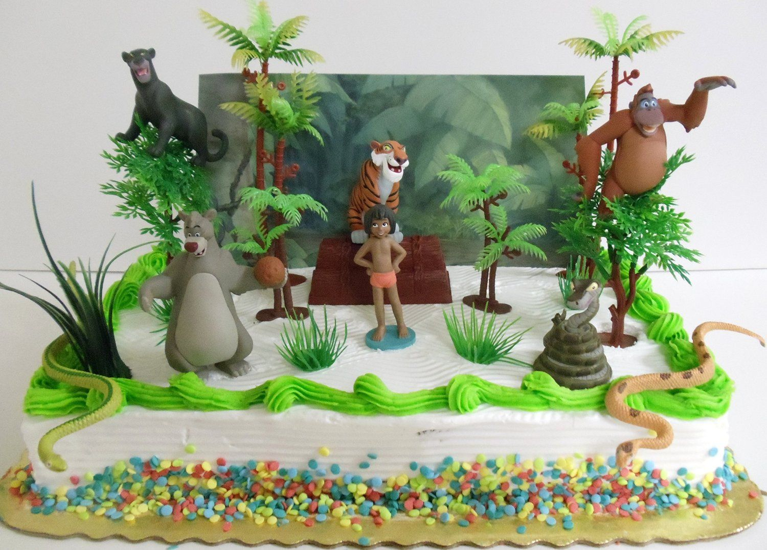 Amazon Jungle Book 17 Piece Birthday Cake Topper Set