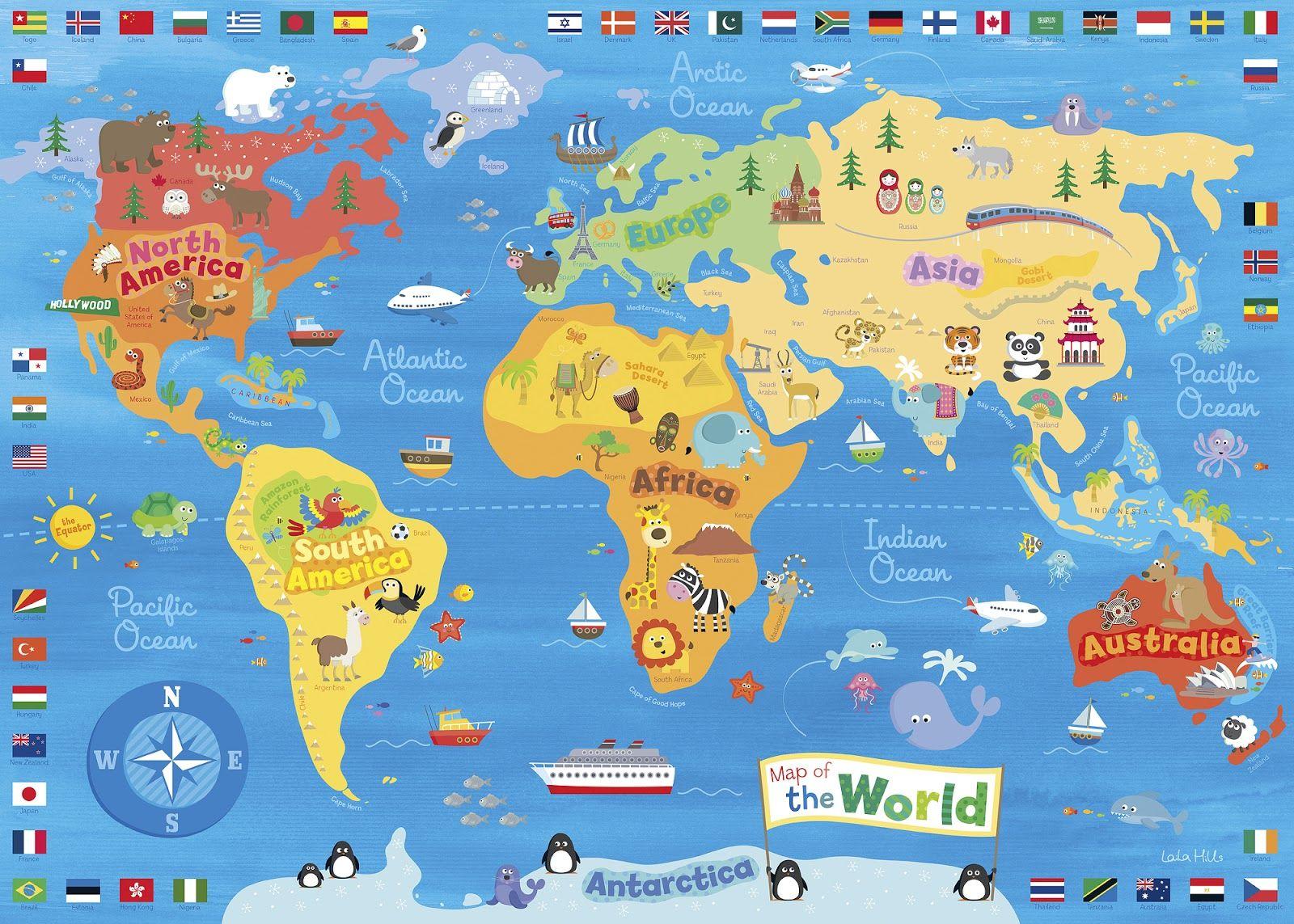 Kids World Maps