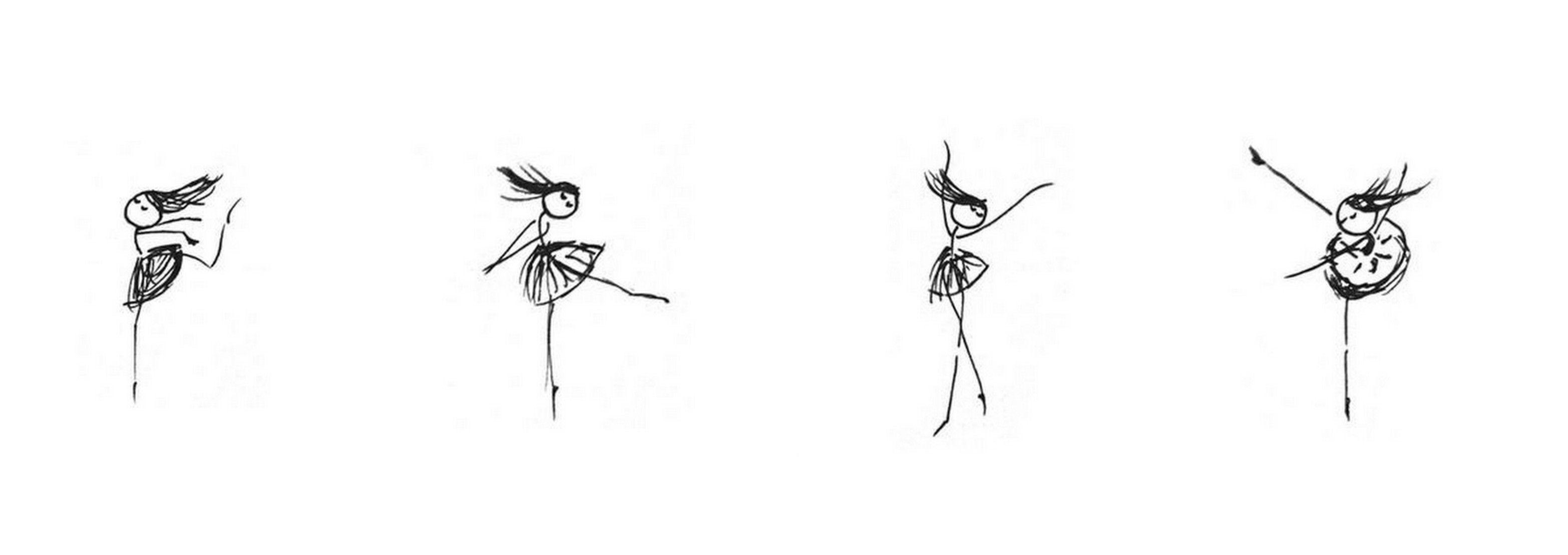 Stick Figure Dancing Ballerinas