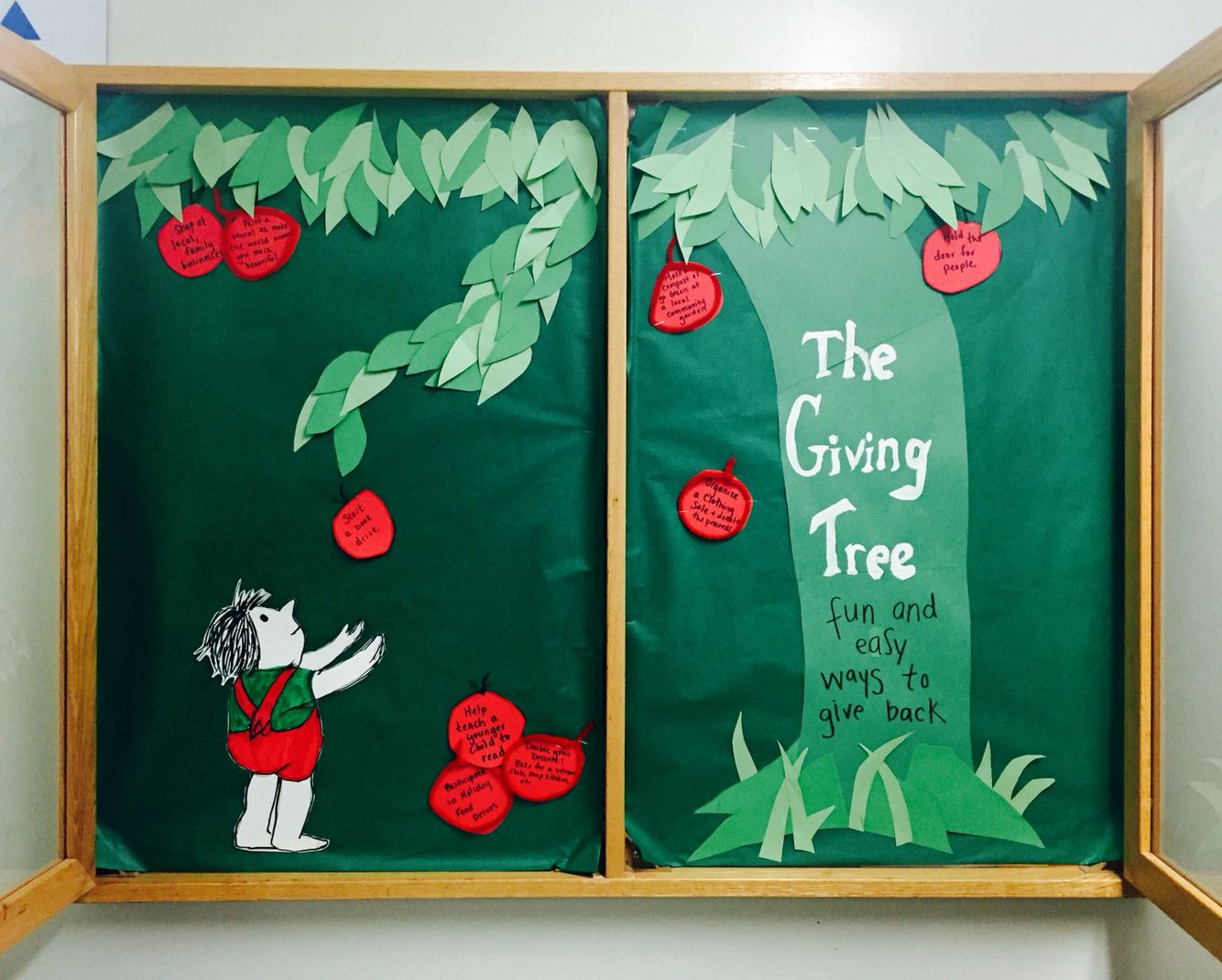 Resident Assistant Bulletin Board Based Off The Giving