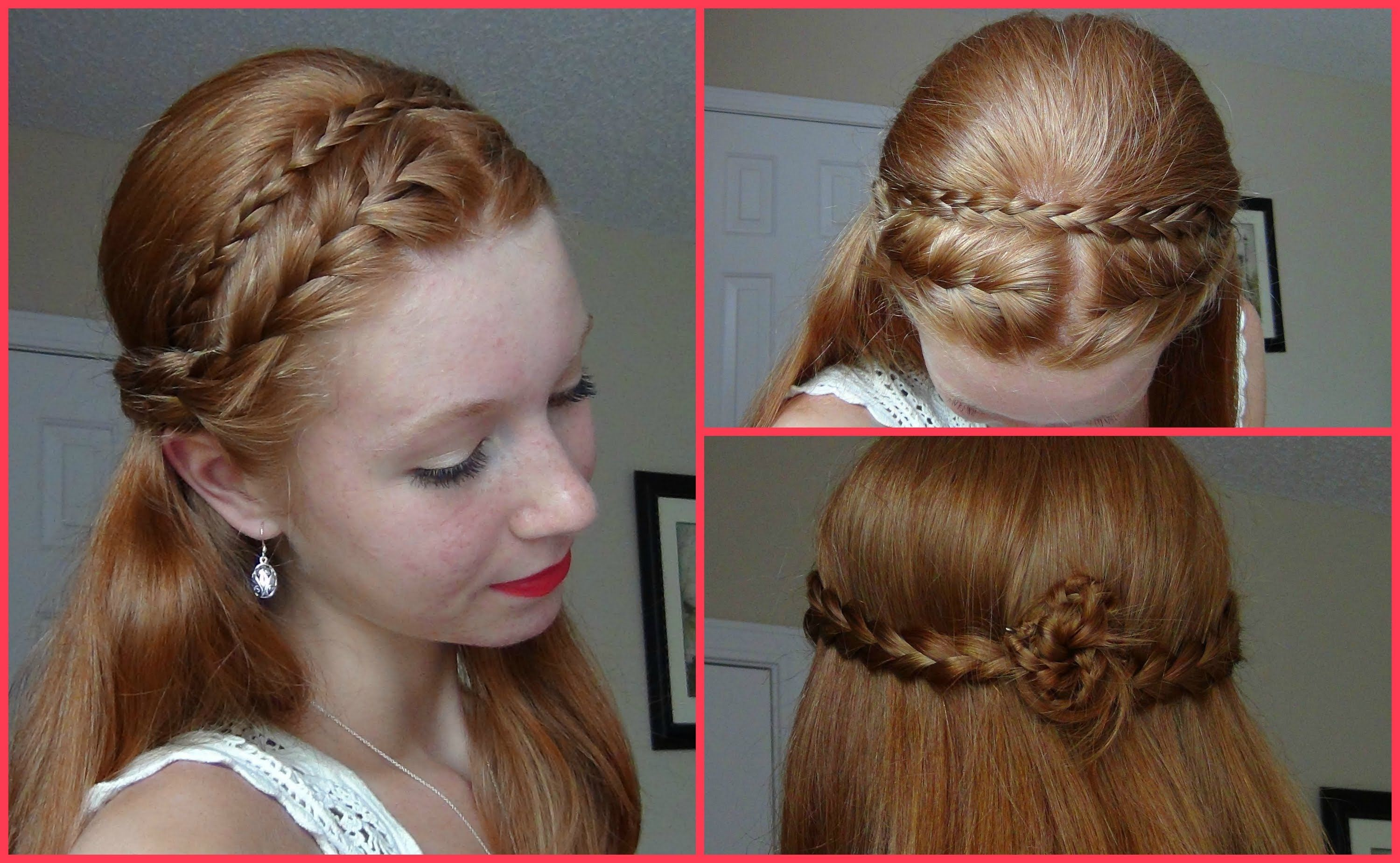 Summer 2013 Hairstyle Half Up Half Down French Braided and Braided