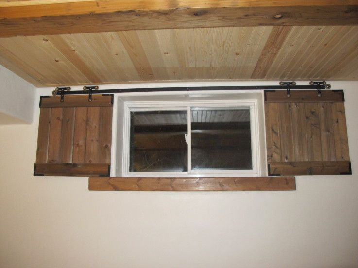 Barn Door Shutters For The Basement Windows Added