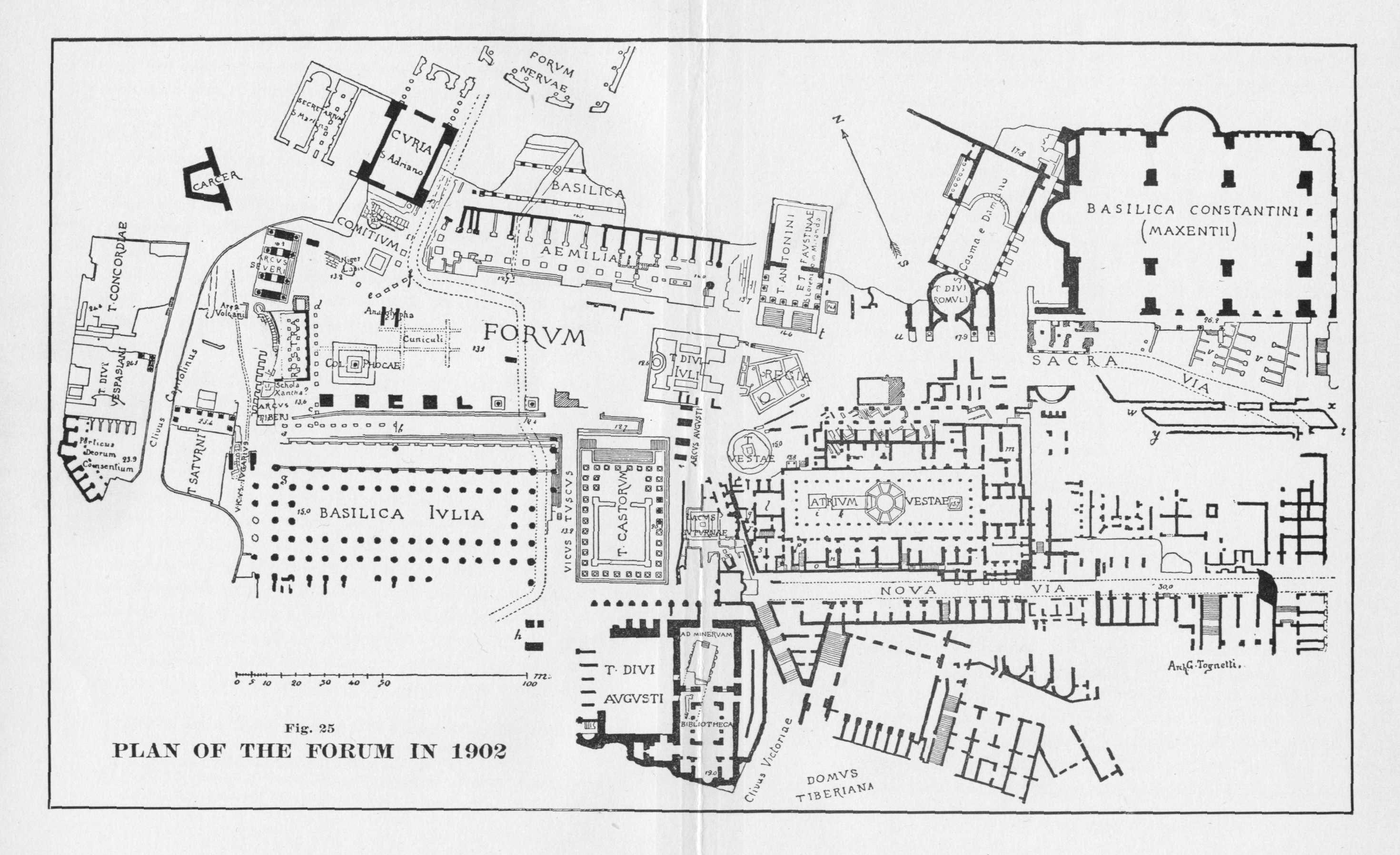 Plan Imperial Fourms Rome 46 B C A D 117