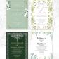 Greenery wedding ideas wedding invitations diy wedding invitations