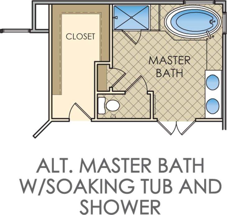 small master bathroom floor plans Kingsmill u House design ideas