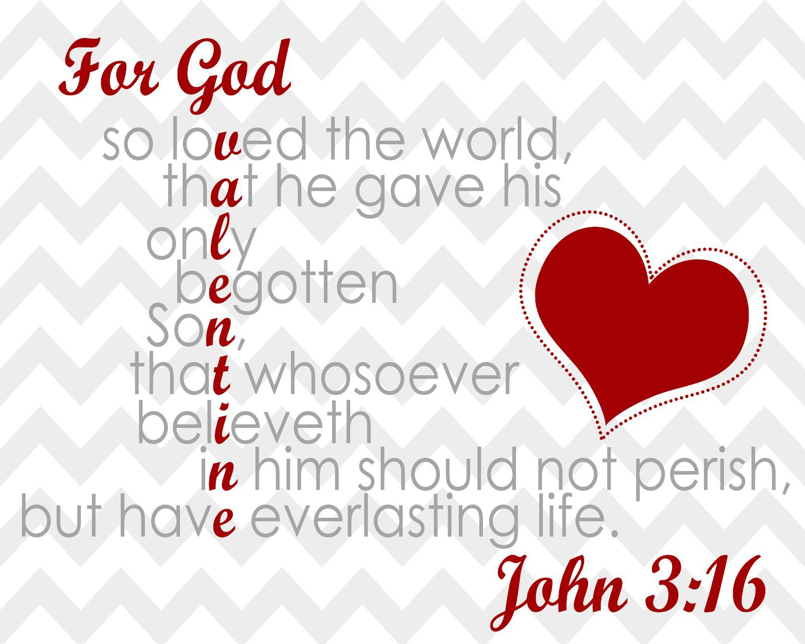 For God So Loved The World That He Gave His Only Begotten