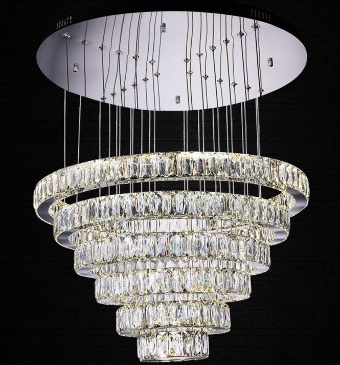 Find More Chandeliers Information About Crystal Chandelier Modern Three Colors With Remote Control Lighting Fixtures