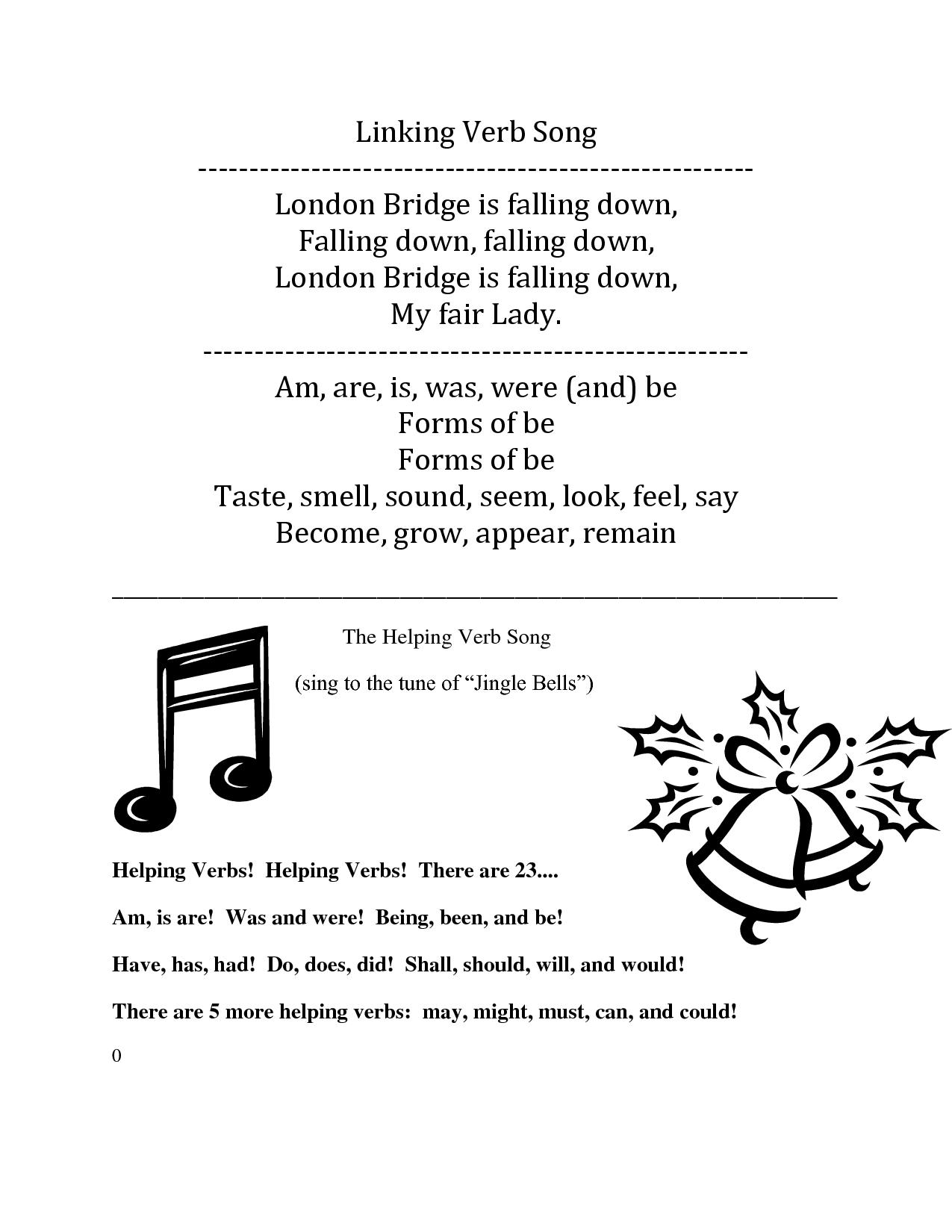 Linking Verb Song Lyrics To London Bridge Is Falling Down