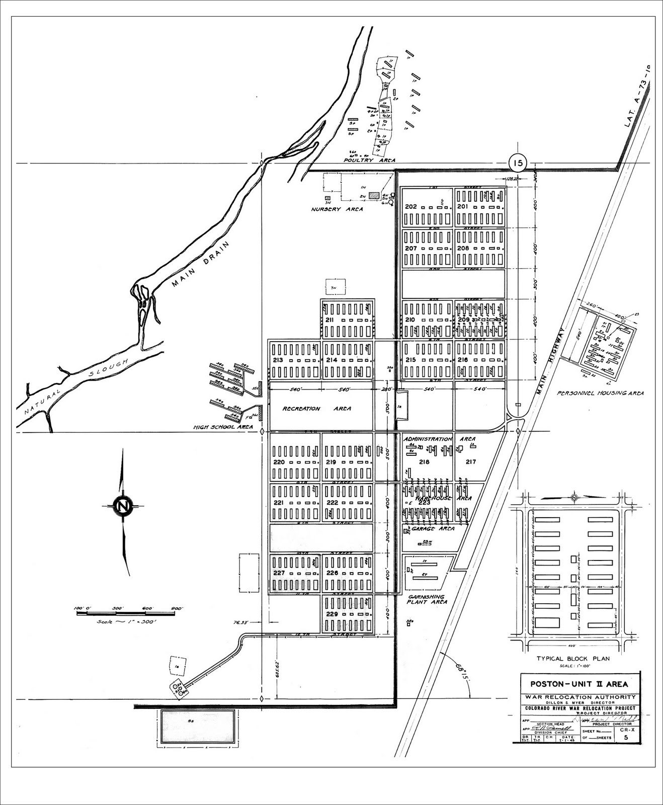 Poston Concentration Camp Block Maps Camp 2 Layout