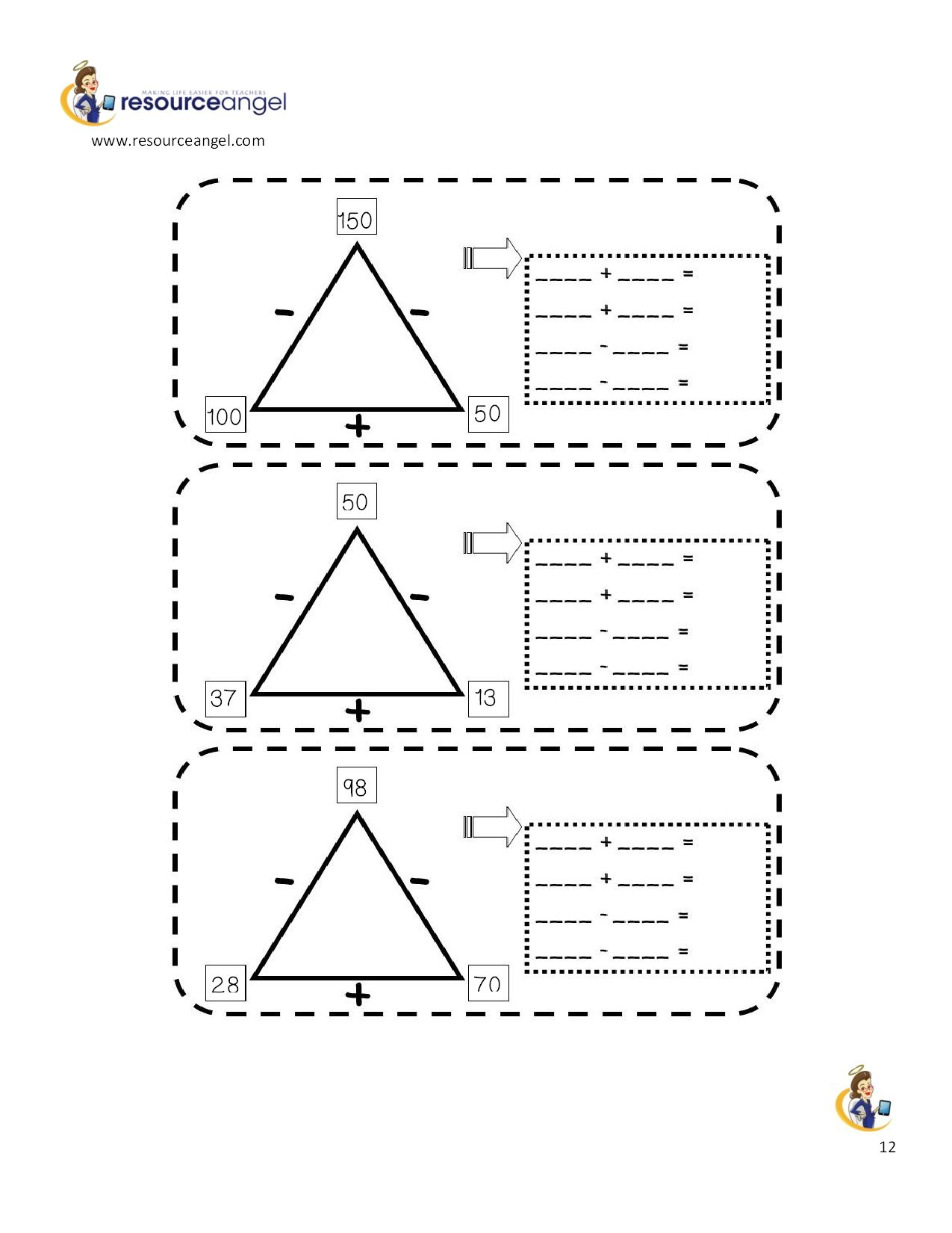 A Page From The Inverse Operations Pack Produced By