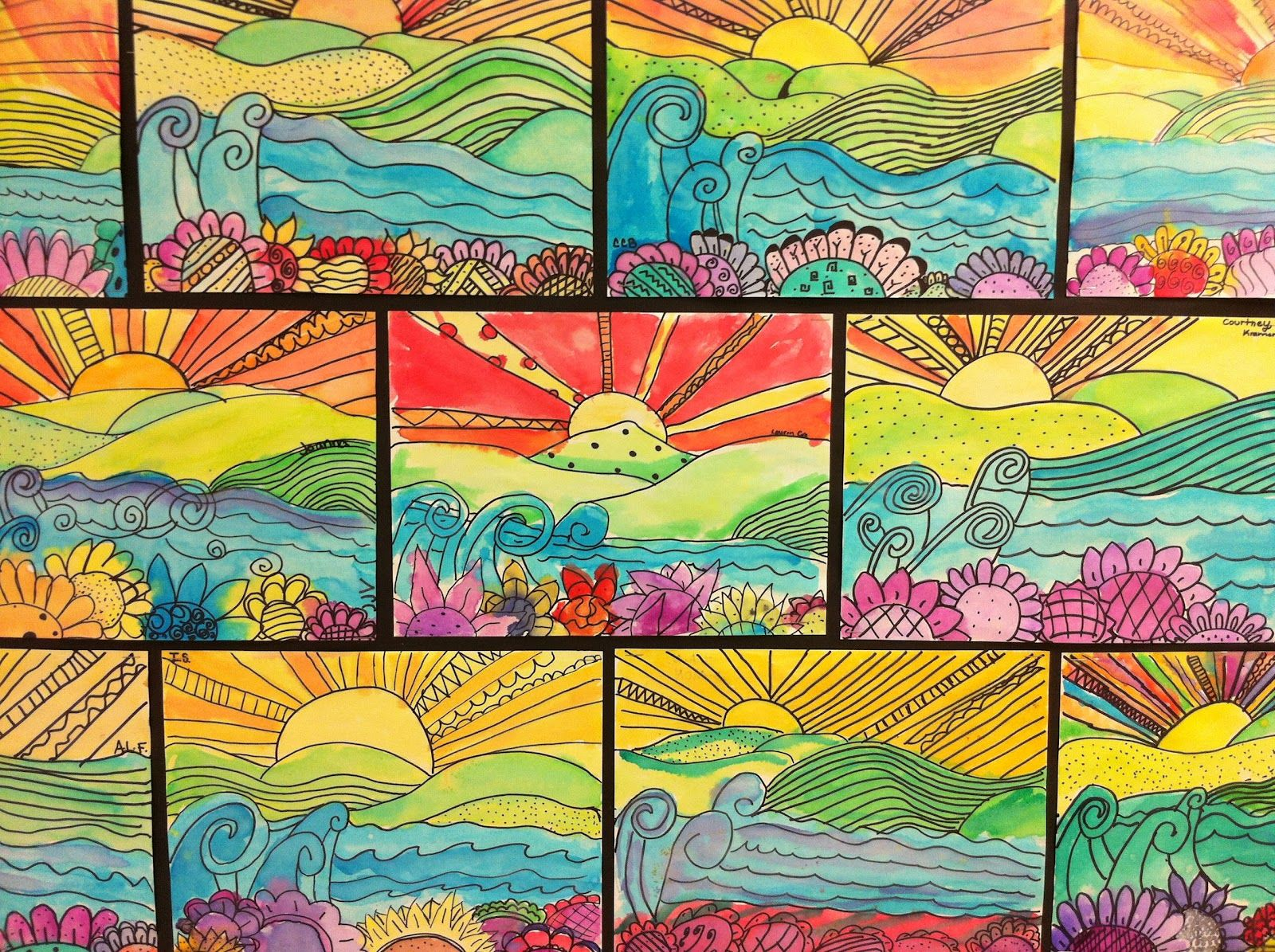 Apex Elementary Art Whimsical Landscapes