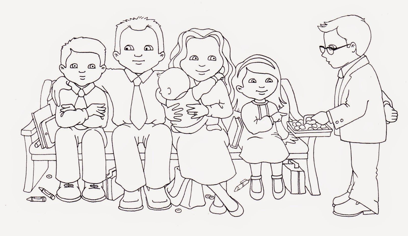Susan Fitch Design Sacrament Family Illustration