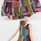Gracila bohemian patchwork sleeveless oneck long maxi dresses