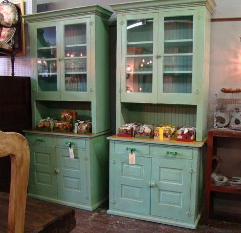 reclaimed wood butler pantry cabinets pair painted pine butler s pantry cabinets each 42 w on kitchen cabinets pantry id=37698