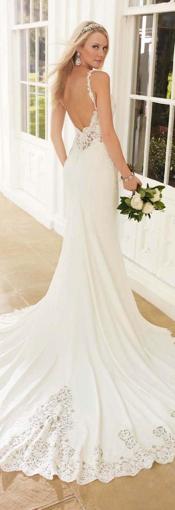 Open Back Wedding Dresses with Beautiful Details  Wedding dress