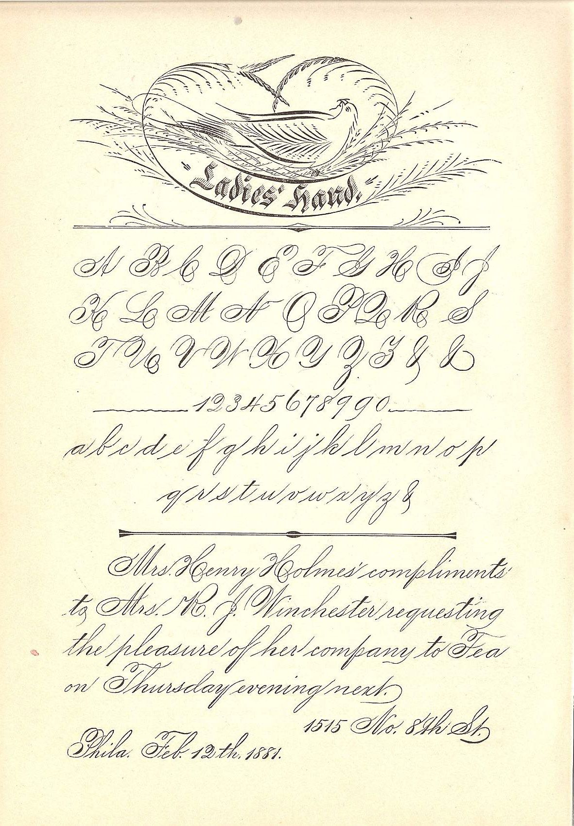 Spencerian Or La S Hand Calligraphy Font