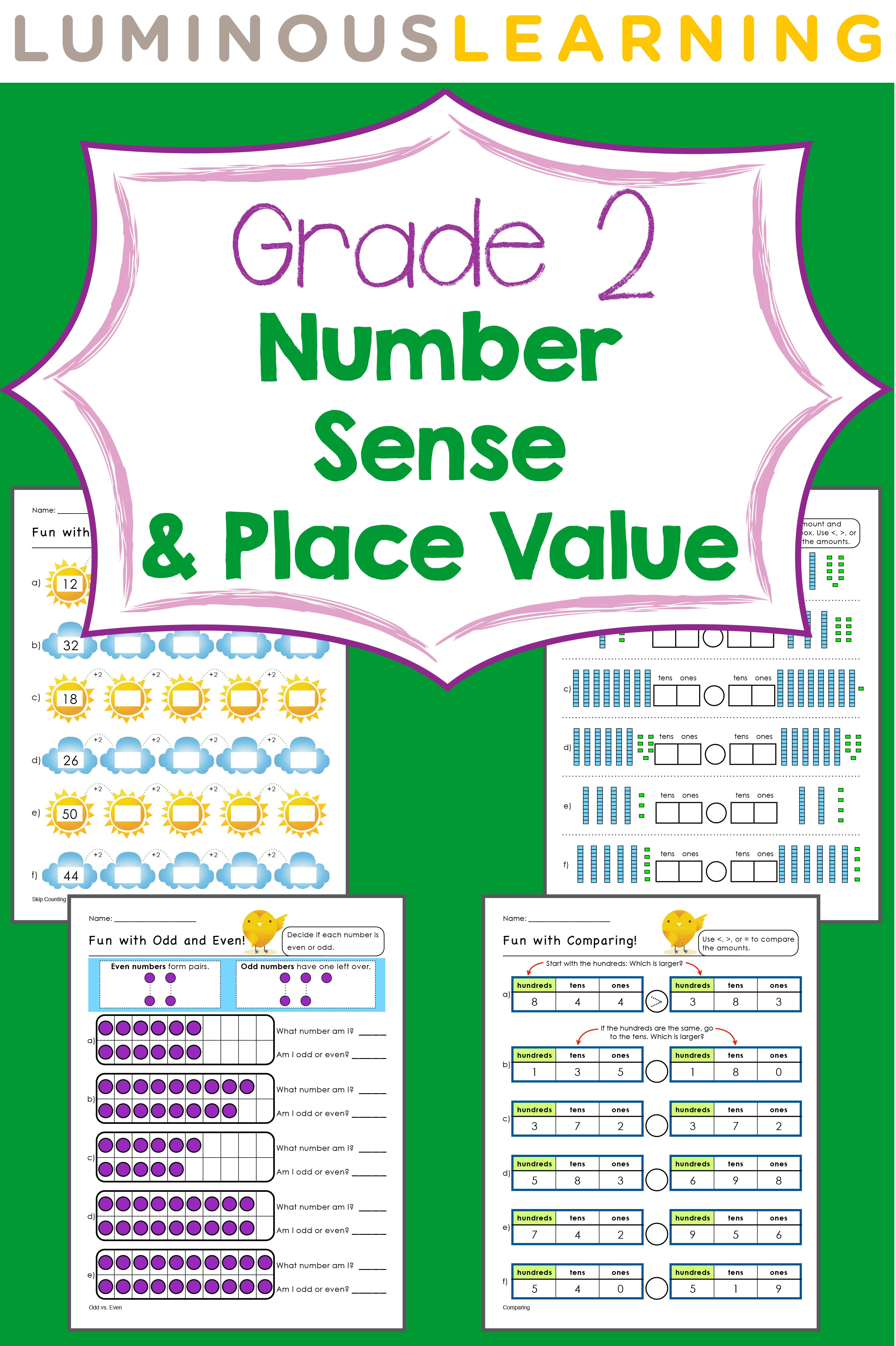 Grade 2 Number Sense And Place Value E Workbook Making Math Visual