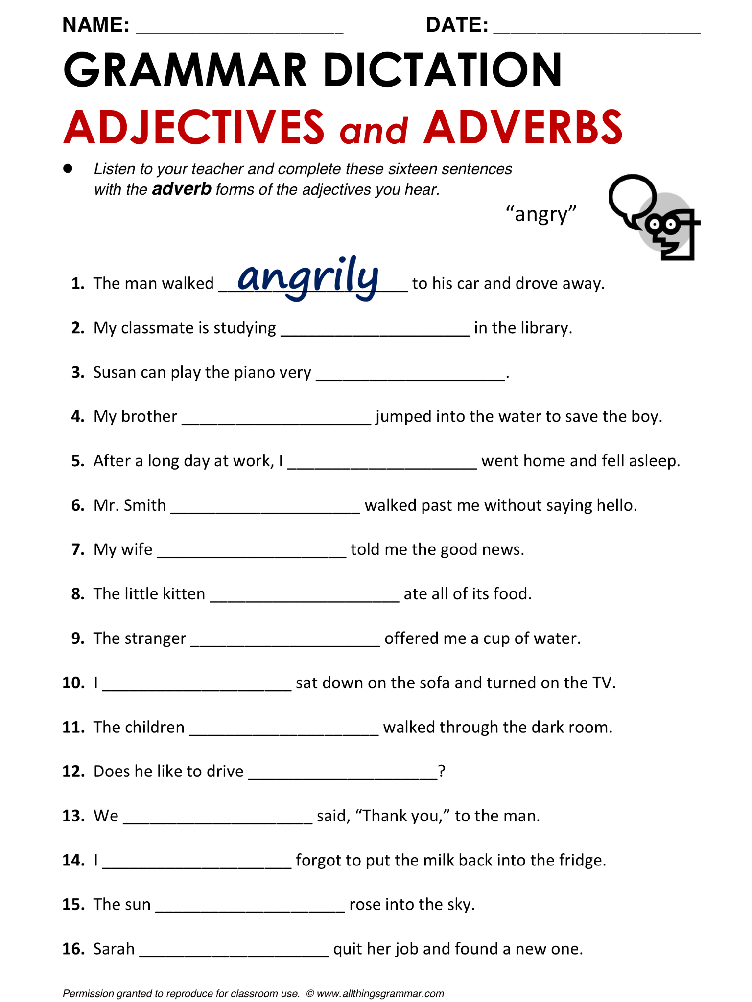 English Grammar Adjectives And Adverbs