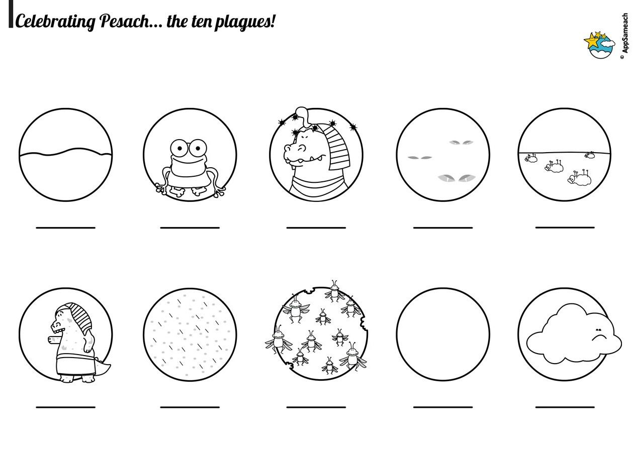 The 10 Plagues Coloring Page