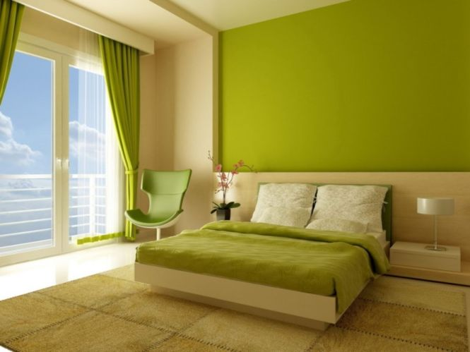Office Fresh Lime Green And Light Brown Bedroom Decorating Color