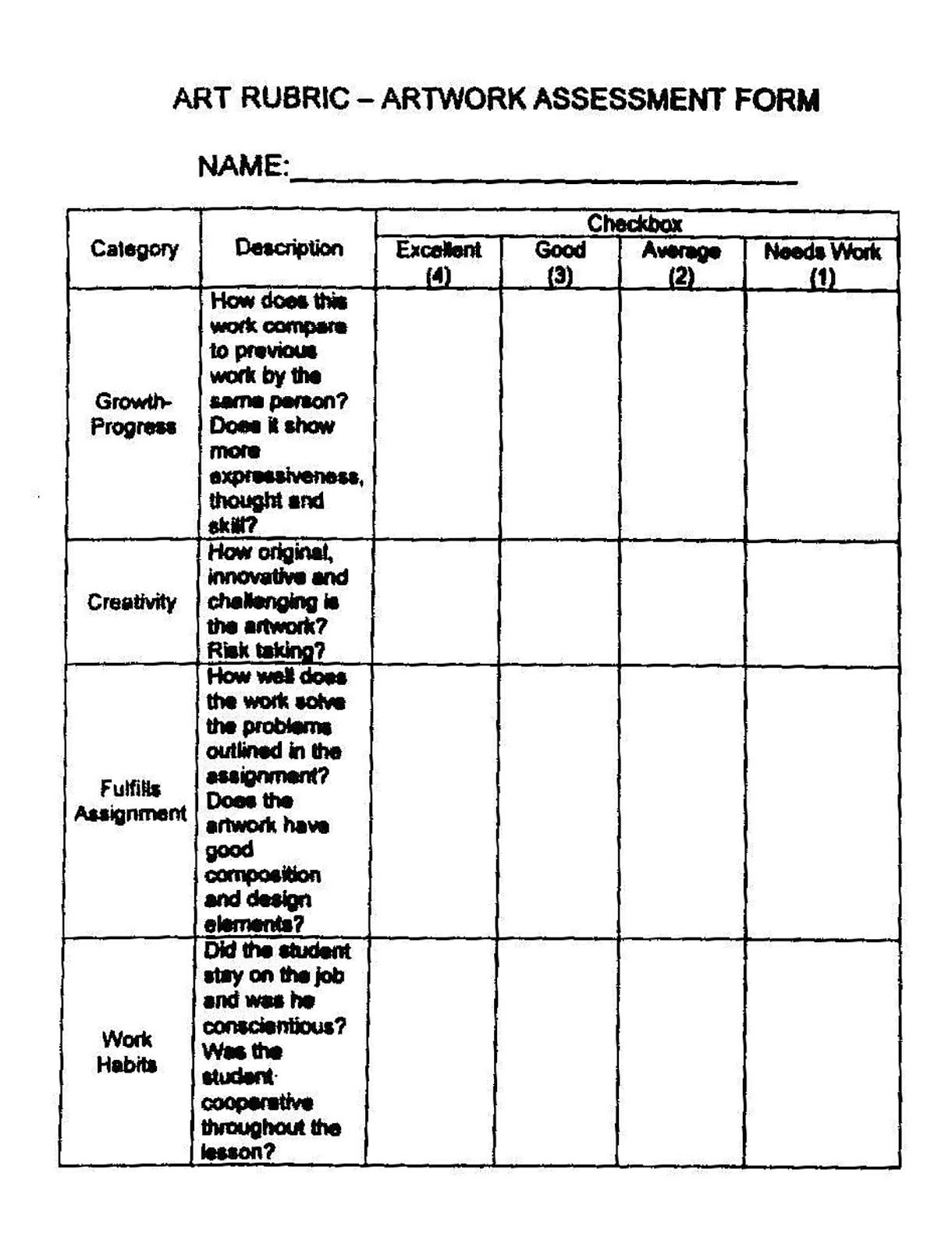 Need To Re Type But This Is A Great Rubric Ke The