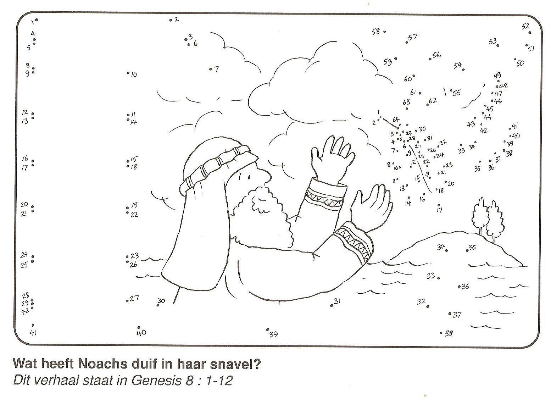Wat Heeft Duif In De Snavel Noach Van Stip Naar Stip