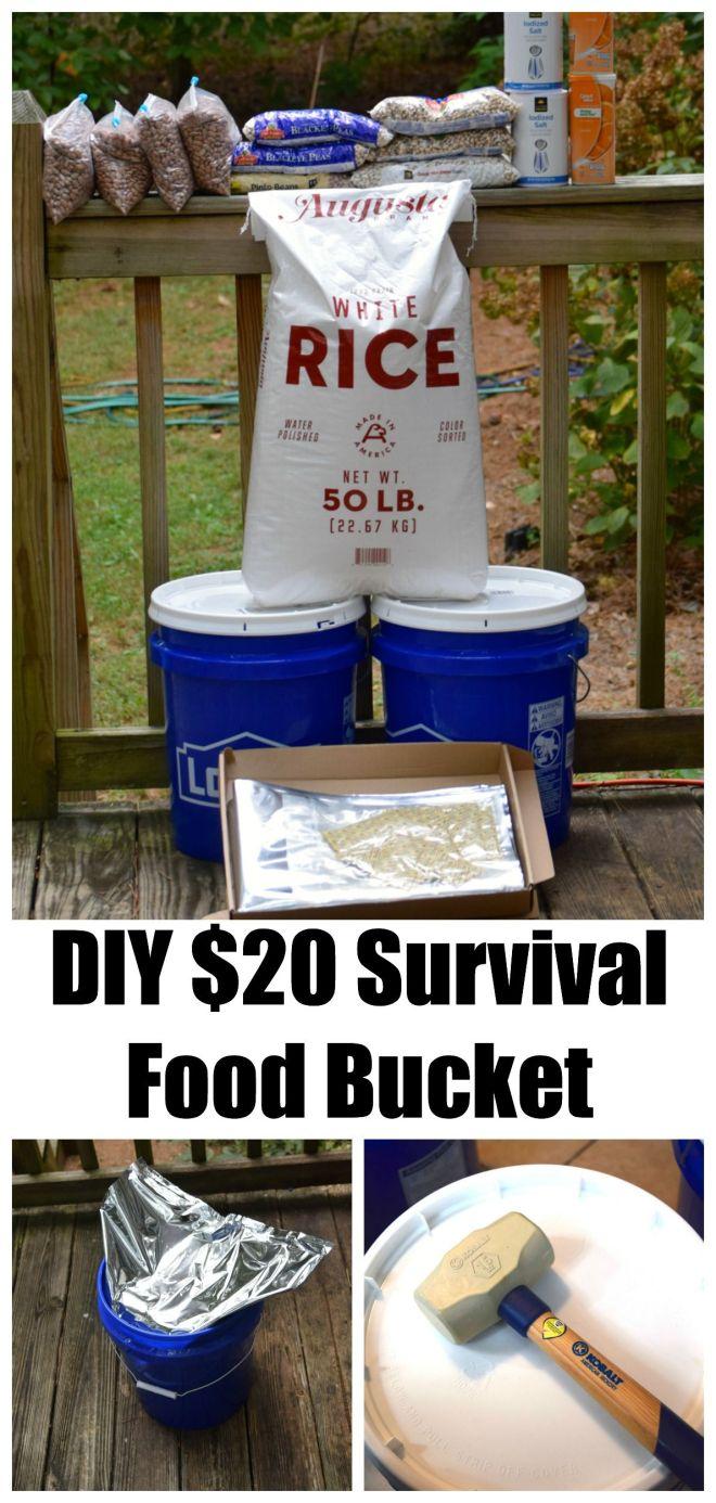 Diy 20 survival food bucket survival buckets and food