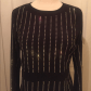 Nwt xtaren long sleeve rhinestone dress nwt