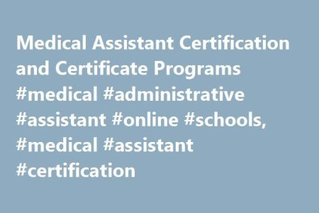 Free Resume 2018 » online classes for medical assistant ...