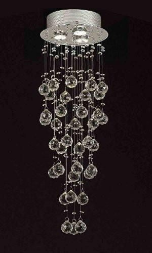 Modern Contemporary Chandelier Rain Drop Chandeliers Lighting With 40mm Crystal H31 Xw10