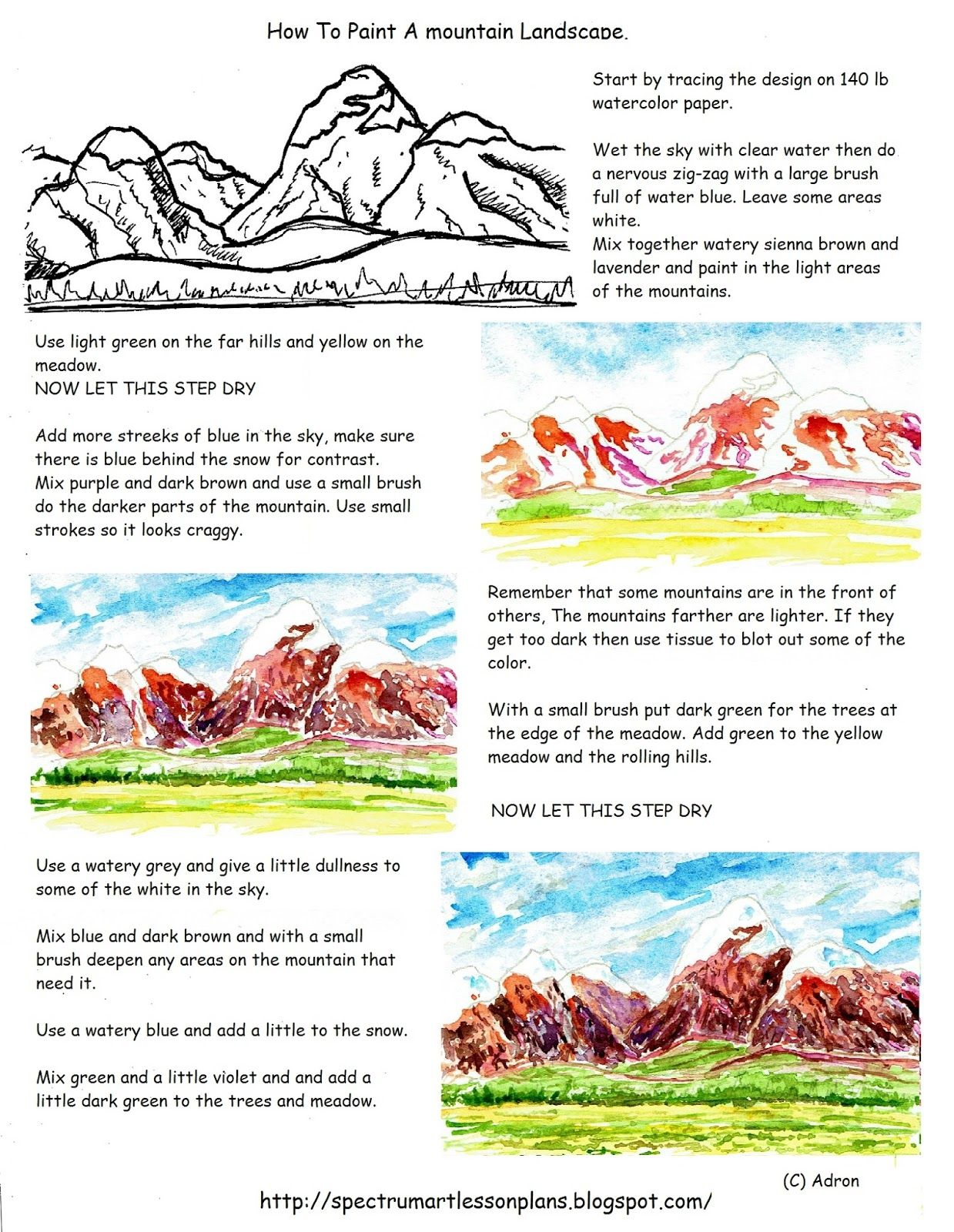 A Printable Worksheet And Art Lesson For The Young Artist That May Be Used By Teachers And
