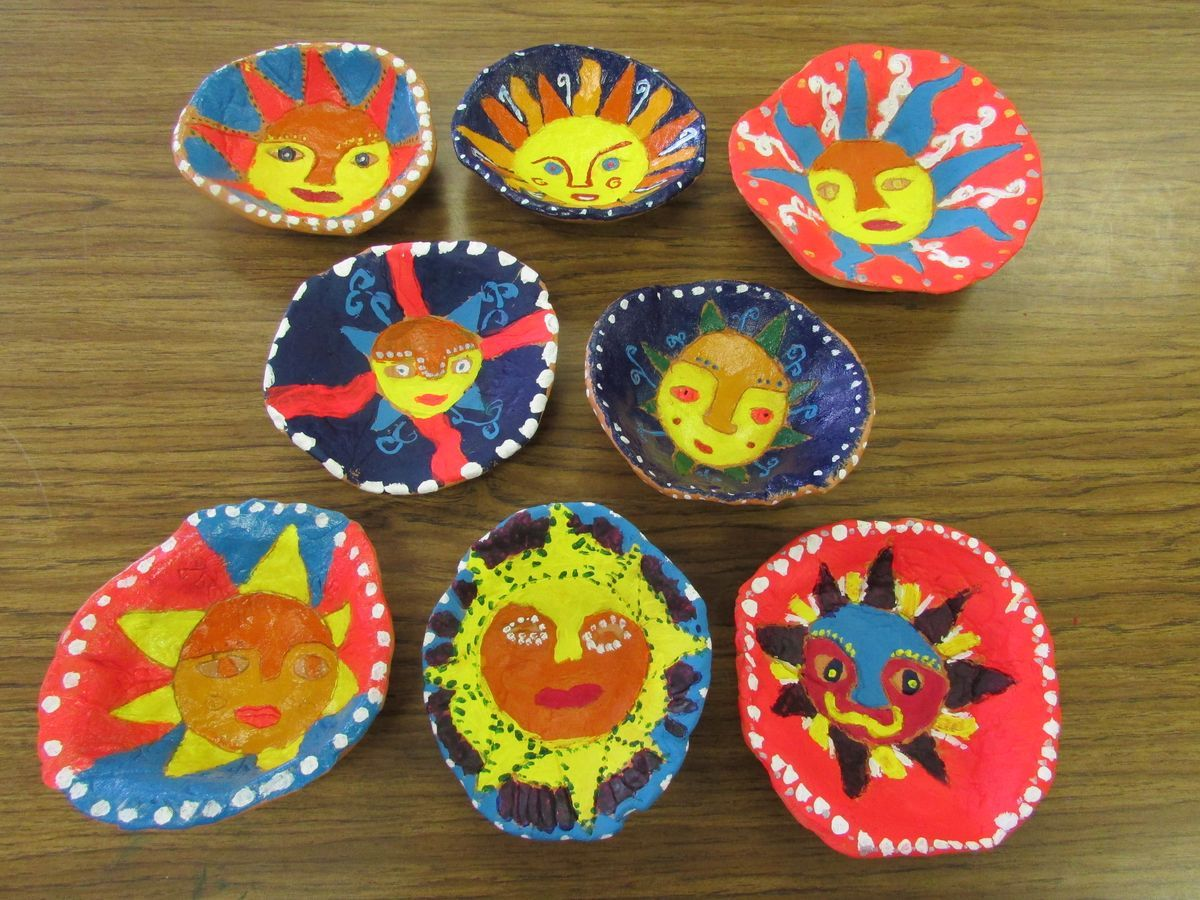 Mexican Sun Bowls Made Of Terra Cotta Clay By My 3rd Grade