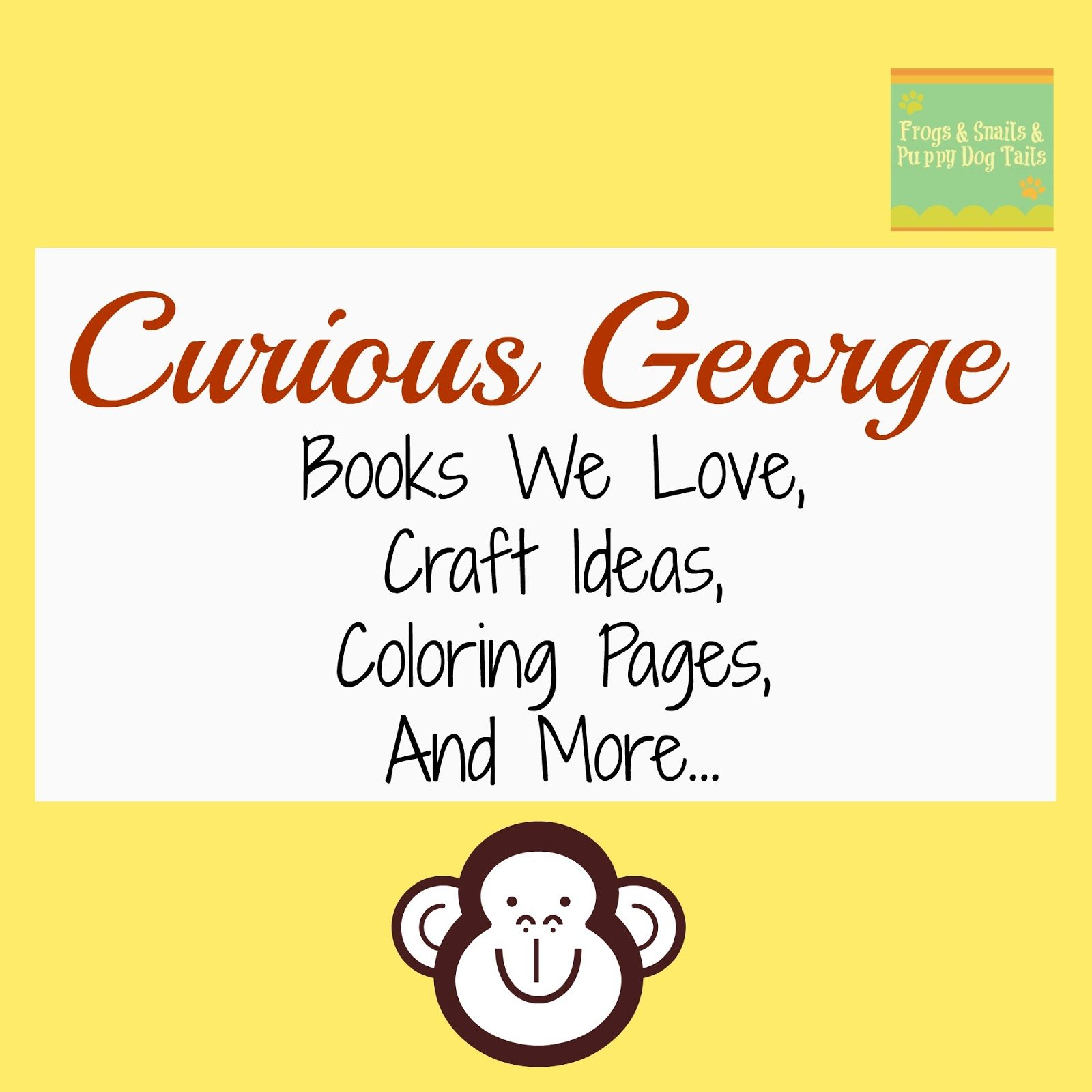 Curious George Books We Love Craft Ideas Coloring Pages