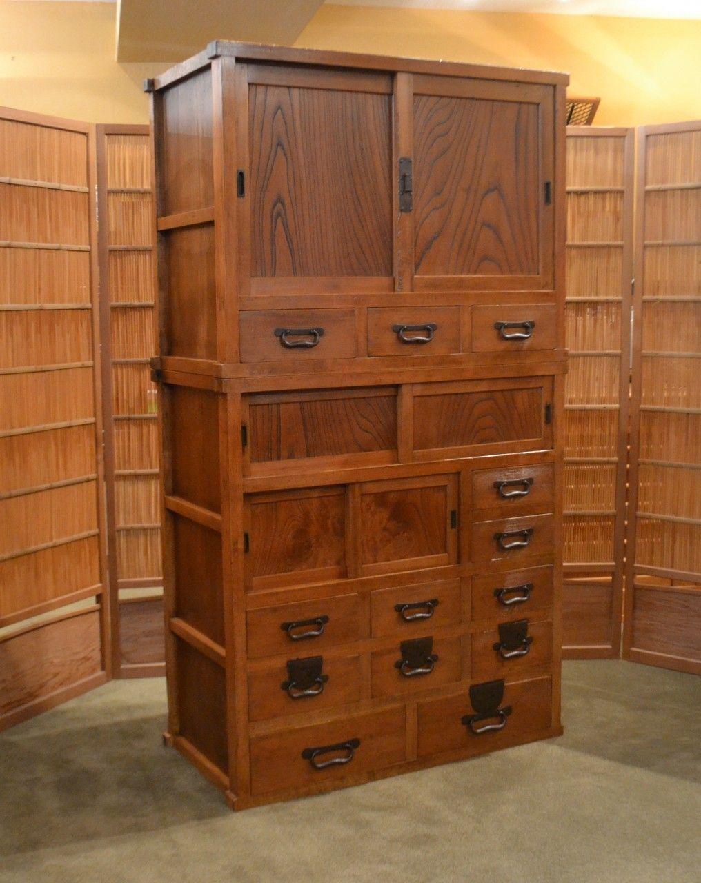 antique japanese mizuya tansu kitchen chest organize pinterest on craft rooms and in on kitchen organization japanese id=63063