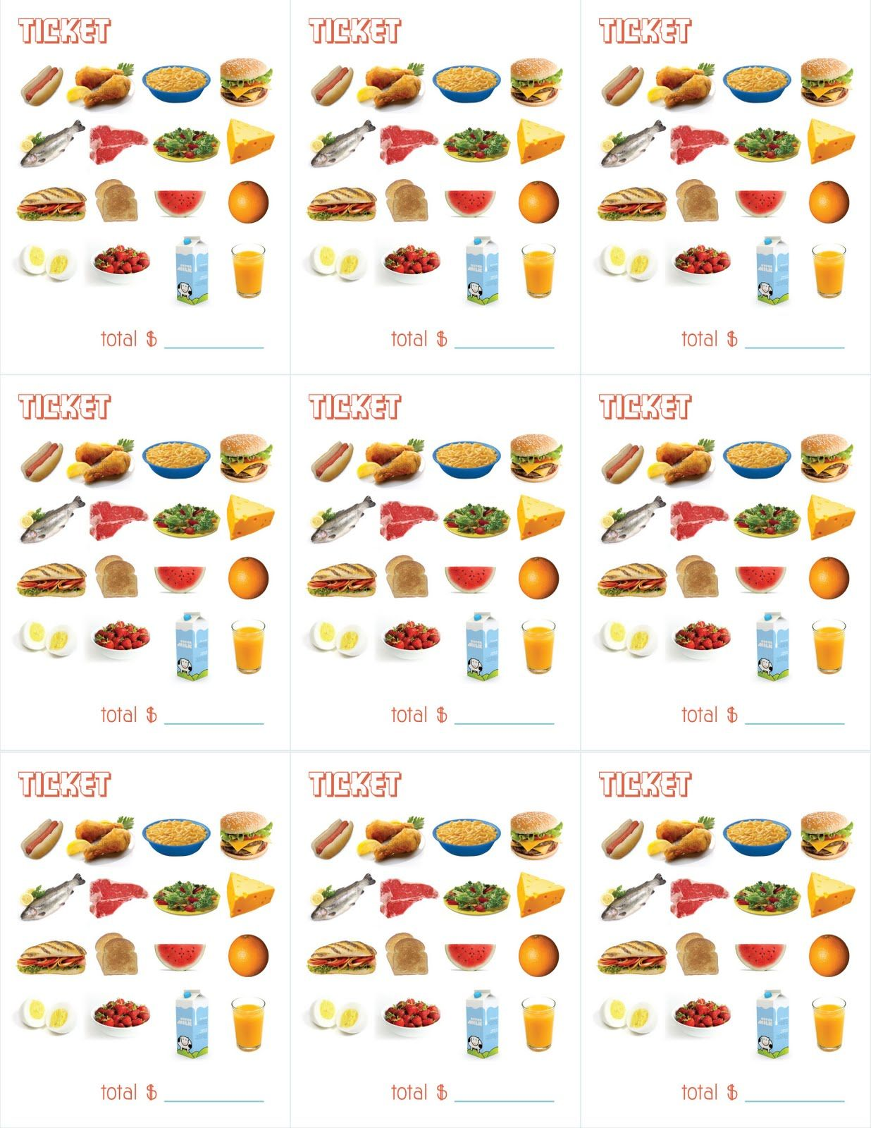 Delightful Distractions Printable Menus For Playing Restaurant Kids Can Practice Using