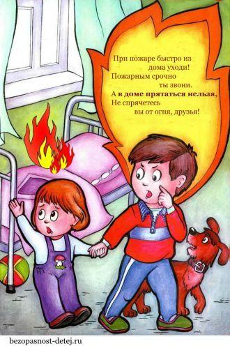 Пожарная безопасность картинки - правила поведения при ...