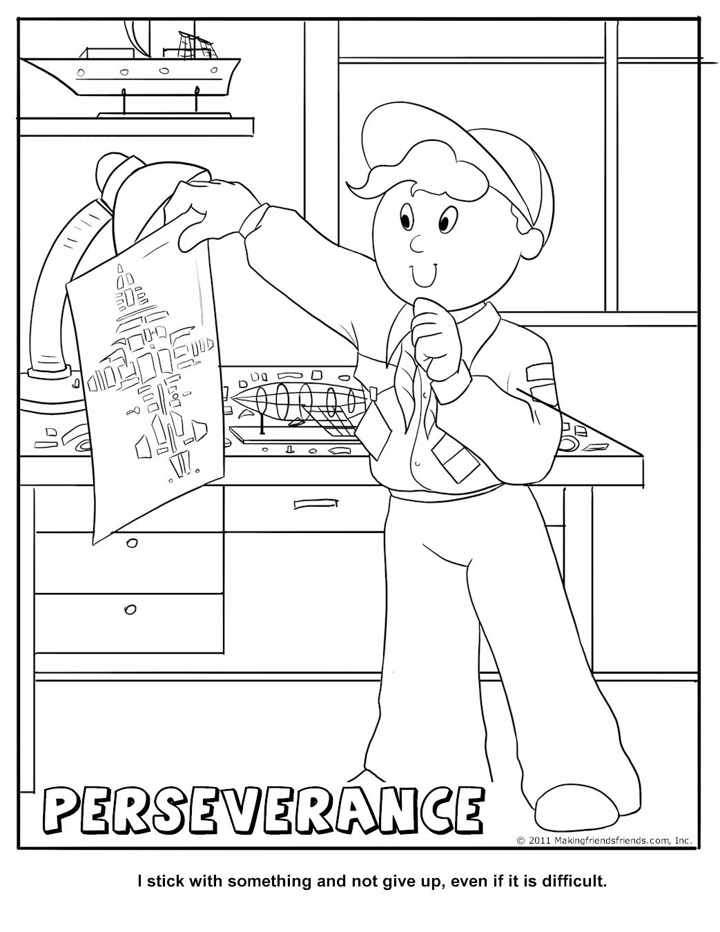 Perseverance Coloring Page Good Lesson To Use In