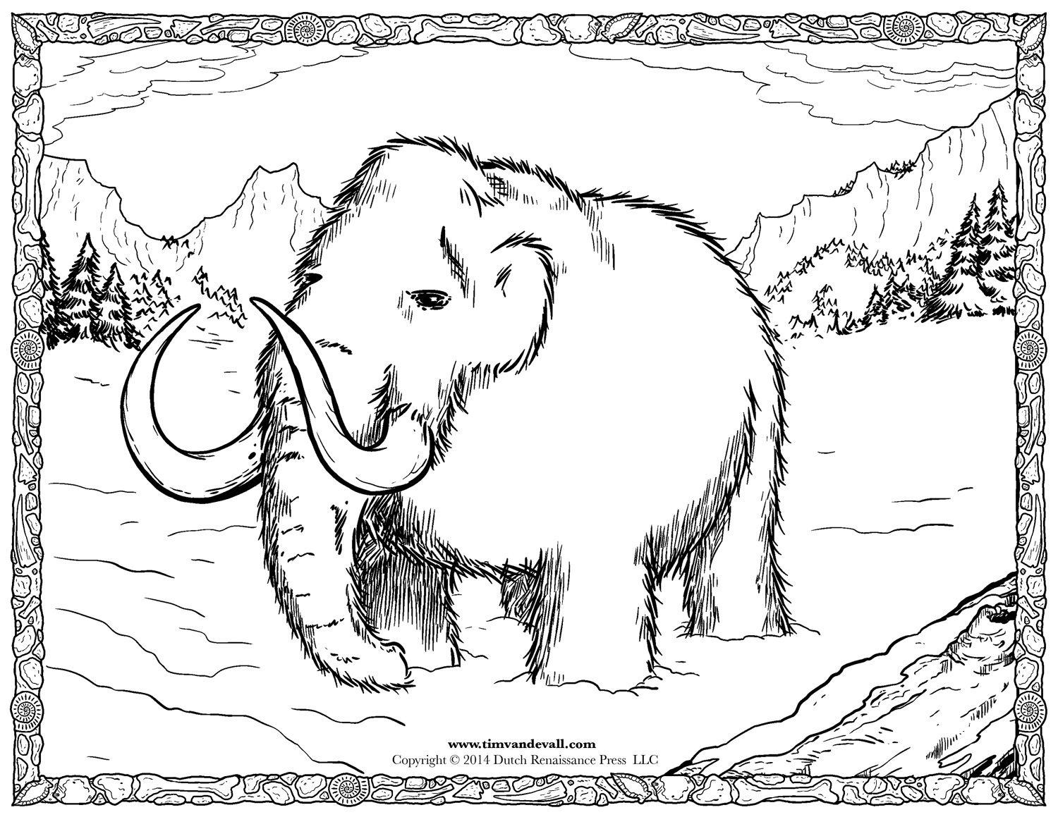 Stone Age Coloring Pages