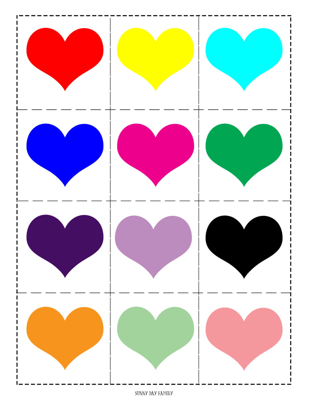 Free Printable Valentine Matching Game For Kids