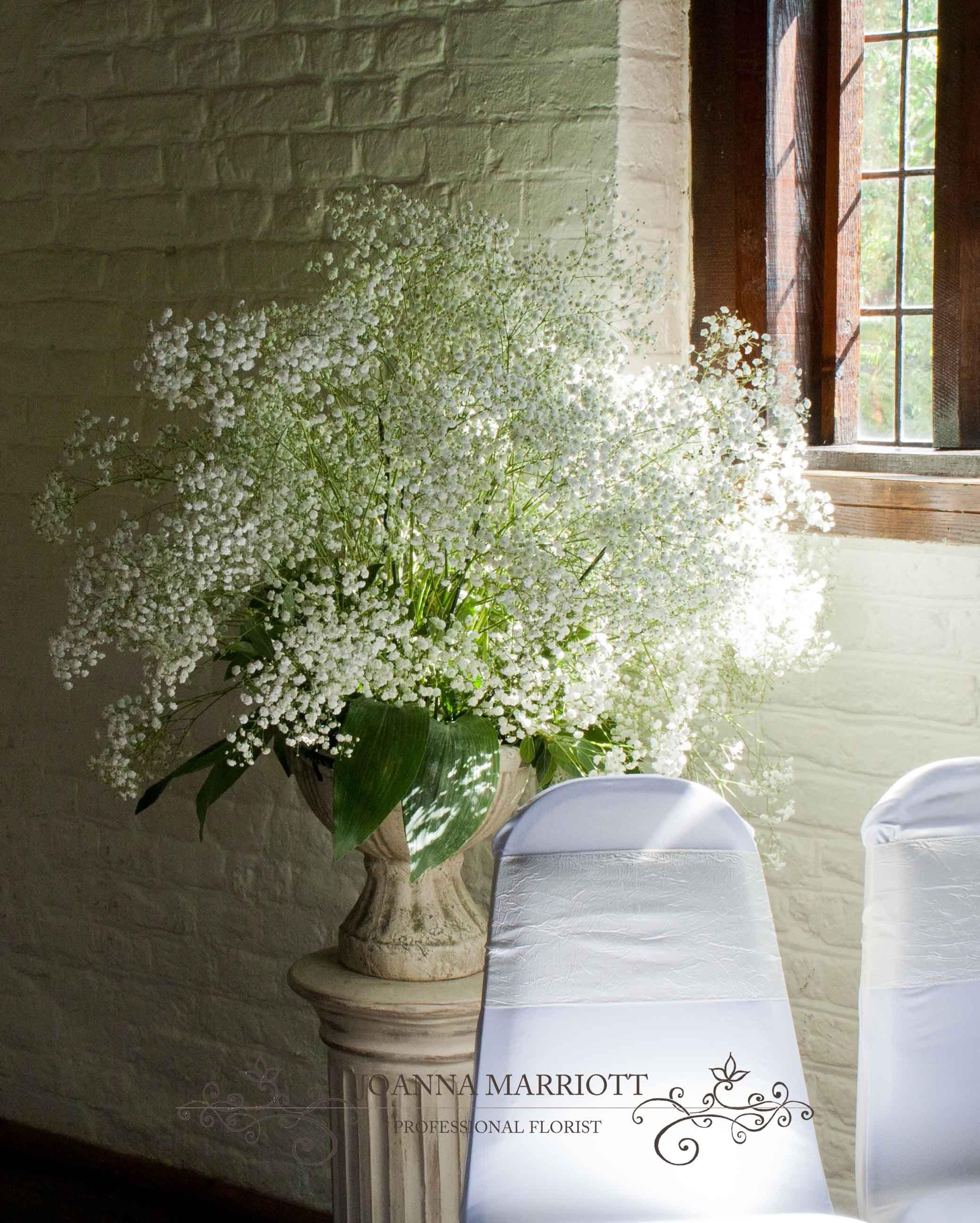 Gypsophila Pedestal Arrangement Perfect For Wedding