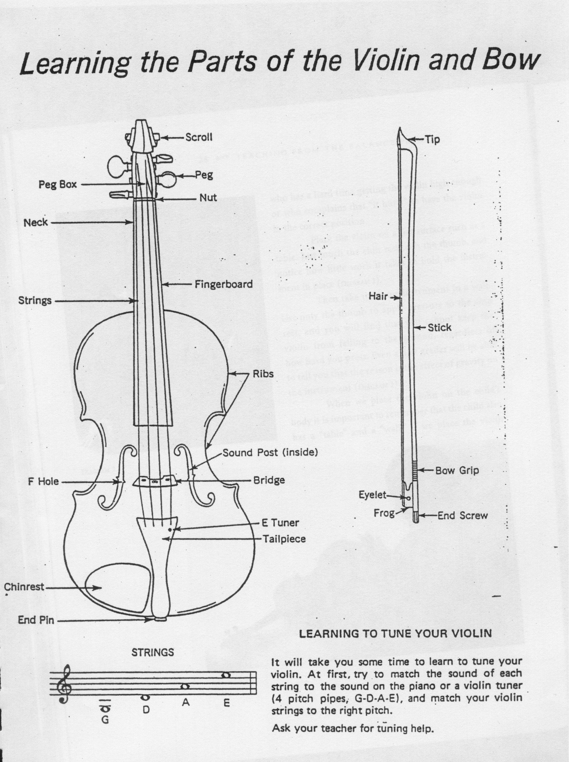Violin Amp Bow Diagram