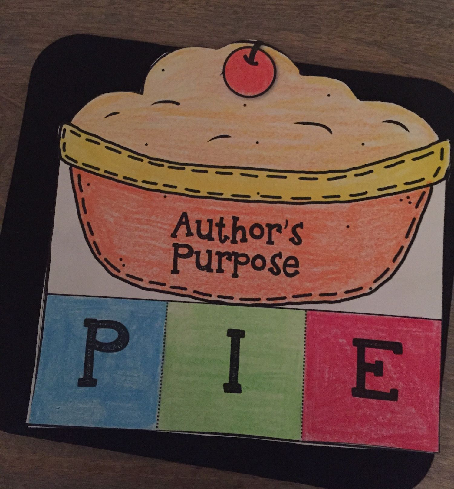 Author S Purpose Pie Interactive Foldables Amp Worksheets