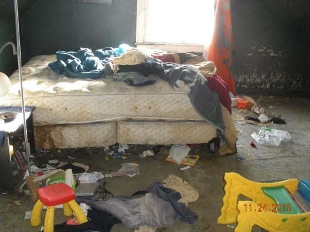 Dirty Soiled Disgusting Bed Mattress Garbage Junk Toys Bedroom Fixer Upper Evansville Indiana Home House