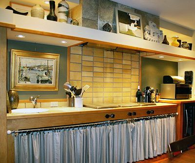 Kitchen Cabinets With Curtains Anybody Remodeling