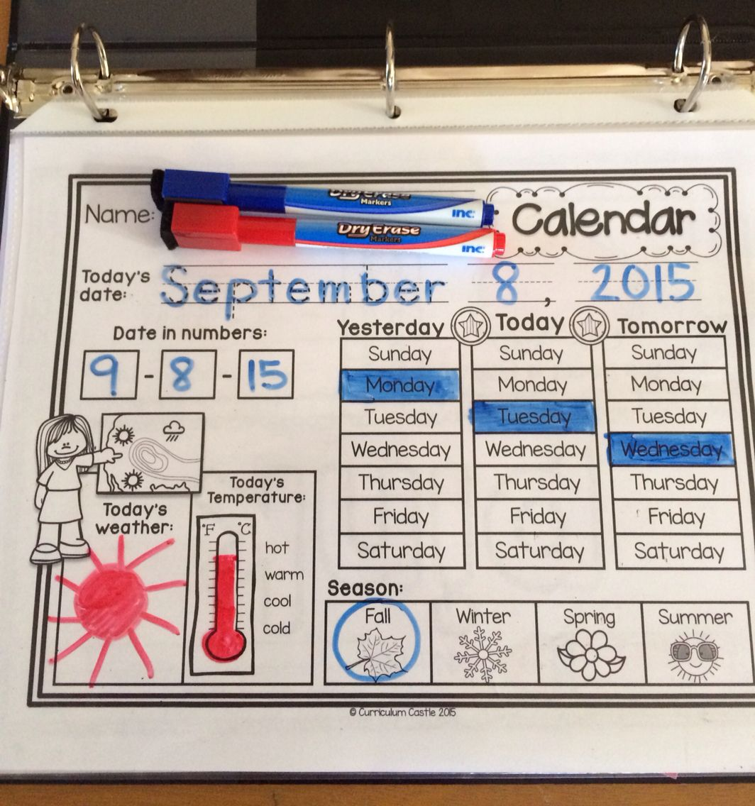 Classroom Calendar Amp Interactive Journal Rainbow Dots Theme