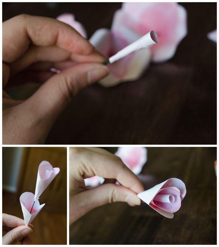 diy how to paper rose tutorial  DIYCrafts  Pinterest  Rose