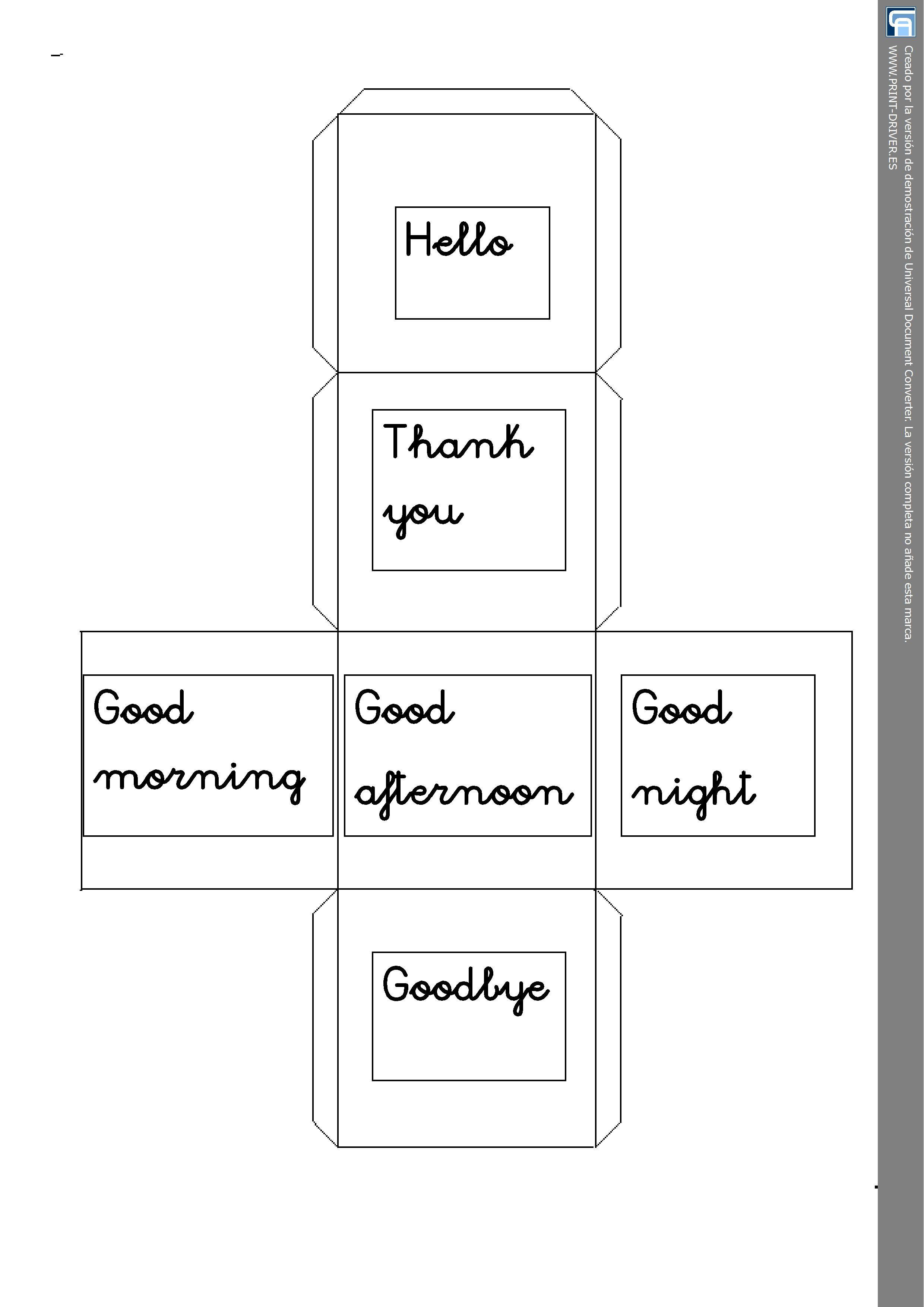 Cube Greetings Worksheet Year One Personal Teaching